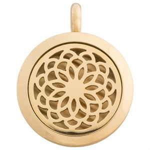 Picture of Flower Oil Diffuser Locket Gold